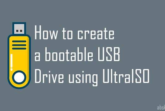 How to create a bootable USB Drive using UltraISO